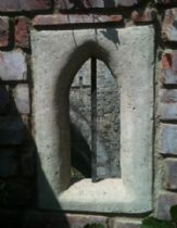 Garden folly / Building / Gothic arch window / Garden wall